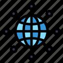 connect, earth, globe, web, world icon