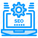 configuration, laptop, seo, setting, web icon