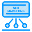 board, marketing, meeting, presentation, seo icon
