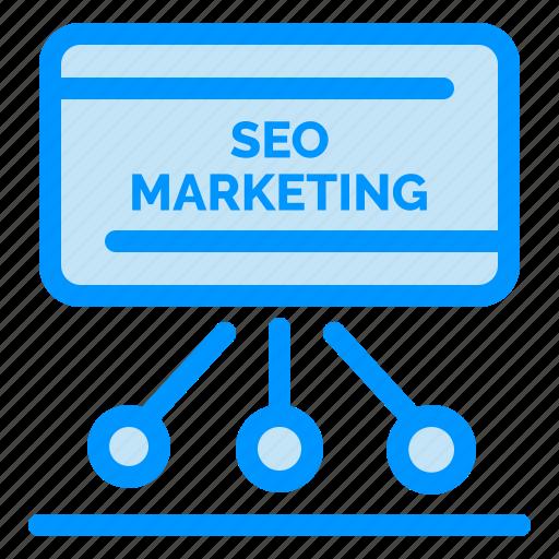 board, marketing, meeting, presentation, seo icon