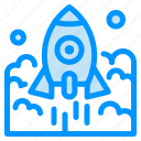 business, entrepreneur, launch, rocket, spaceship, startup icon
