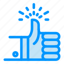 like, review, target, thumbs, up icon