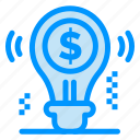 bulb, business, dollar, idea, solution icon