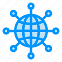 connect, earth, globe, web, world icon
