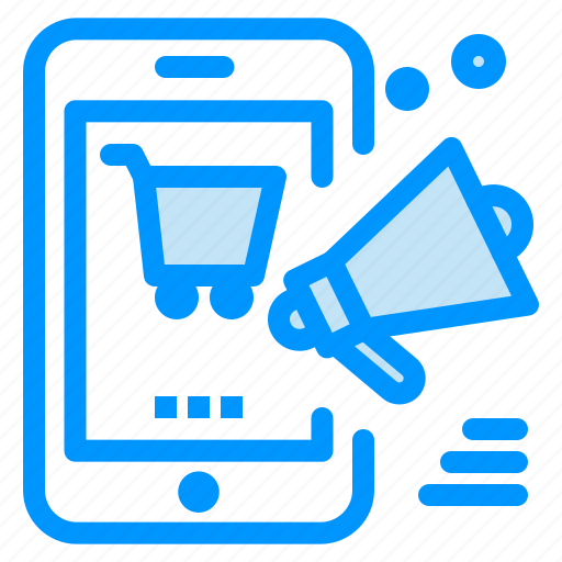 discount, mobile, online, promotion, shopping icon