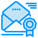 award, email, medal, newsletter, offer icon
