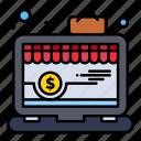 app, laptop, online, shop
