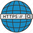 browser, https, website, connection, url icon