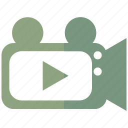 camera, material, recording, vblog, video, vimeo, youtube icon