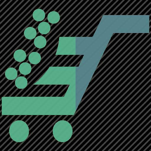 decision, expense, merchandise, shop, shopping, shopping cart, store icon