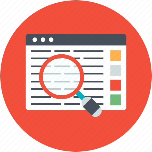analytics, business, engine, optimization, report, search, view icon