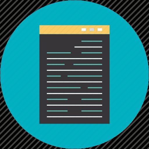 business, code, document, program, qr, script, source icon