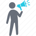 advertizing, bullhorn, communication, connection, internet, message, talk icon