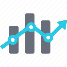 account, analytics, arrow, chart, diagram, ecommerce, finance icon