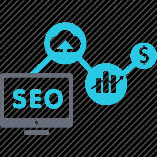 analytics, business, communication, ecommerce, internet, marketing, seo icon