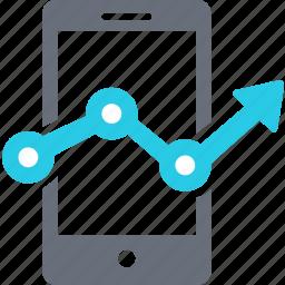 analytics, arrow, business, chart, currency, diagram, marketing icon