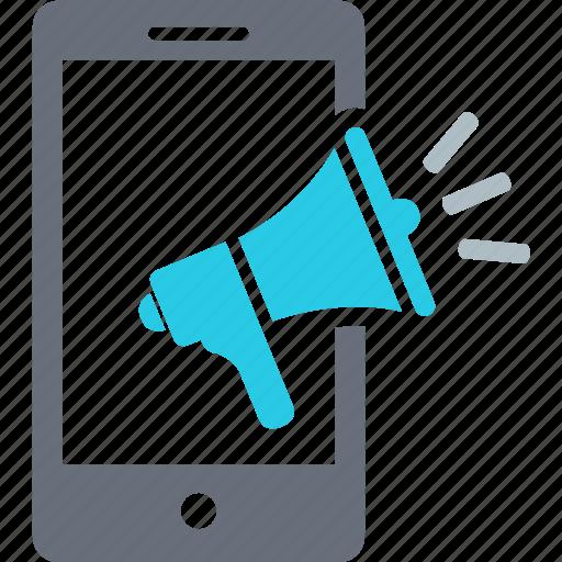 advertising, bullhorn, business, communication, information, marketing, news icon