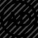 ad, adblock, advertisement, advertising, block, blocker, filter icon icon