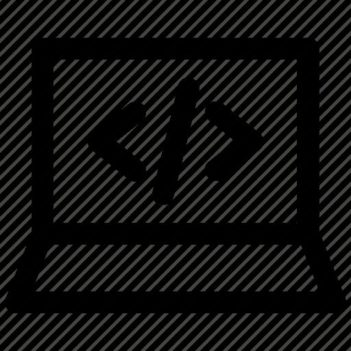 Code, coding, development, laptop, programming icon icon - Download on Iconfinder