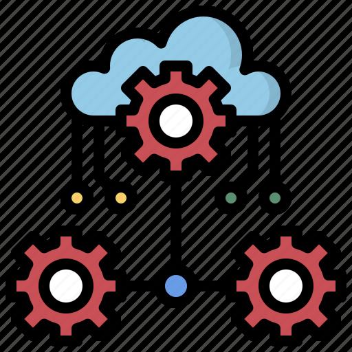 cloud, computing, data, interface, multimedia, option, storage icon