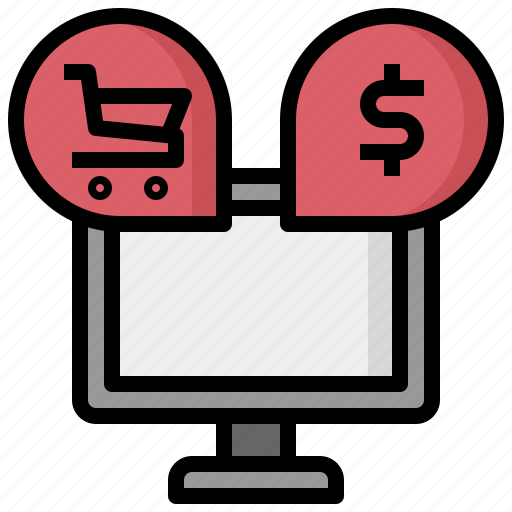 ecommerce, marketing, monitor, online, screen, shop, website icon