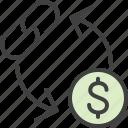 barter, conversion, currency, dollar, exchange, link, money