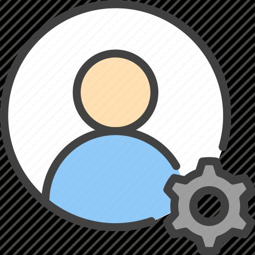 account, cog, customize, gear, profile, user icon