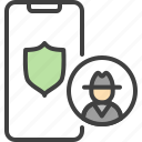 antivirus, guard, protection, security, shield, spy icon