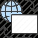 computer, globe, internet, load, sync, synchronize, web
