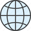 earth, globe, internet, network, web, website, world icon