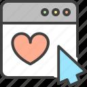 arrow, cursor, favorite, heart, optimization, seo, window