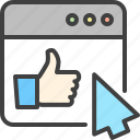 arrow, cursor, favorite, like, optimization, seo, thumb up icon