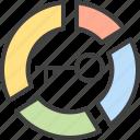 analysis, chart, key, keyword, pie, statistic icon
