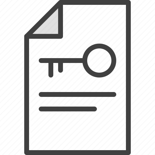 clue, document, file, key, keyword icon