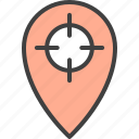 aim, bullseye, location, map, marker, pin, target