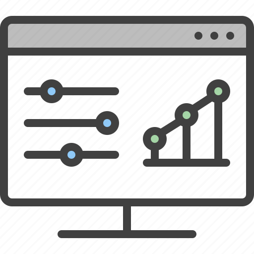 chart, equalizer, monitor, seo, settings, statistic, tuning icon