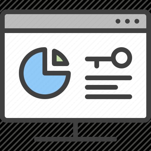 Analysis, analytics, key, keyword, search, statistic icon - Download on Iconfinder