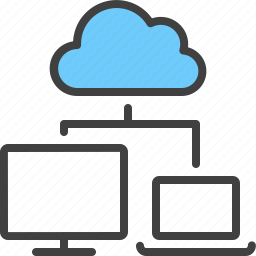Cloud, device, hierarchy, laptop, relation, sync, synchronize icon - Download on Iconfinder