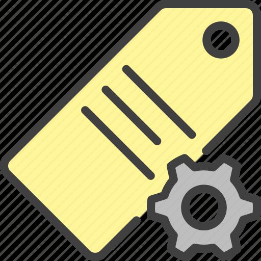 cog, configure, gear, price, seo, settings, tag icon