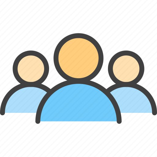 community, conversation, friends, group, people, target, team icon
