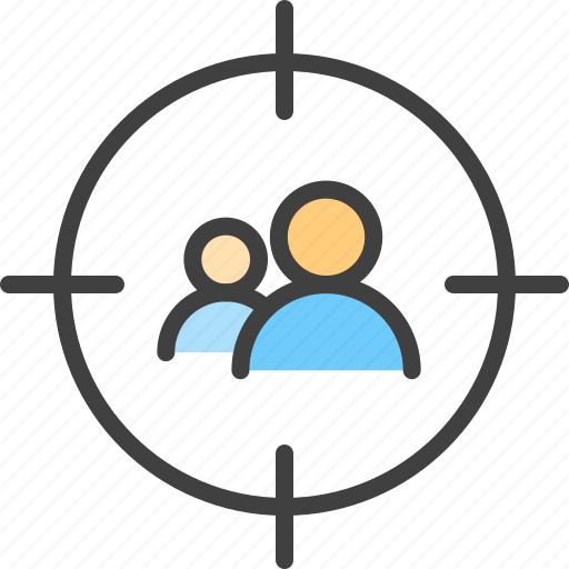 Aim, audience, bullseye, goal, group, people, target icon - Download on Iconfinder