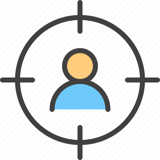 Aim, audience, bullseye, group, man, profile, user icon - Download on Iconfinder