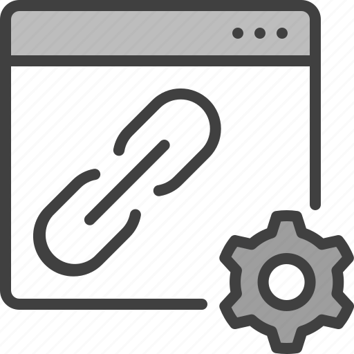 Gear, link, linkage, seo, settings, url icon - Download on Iconfinder