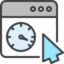 arrow, cursor, seo, speed, speedometer, window icon
