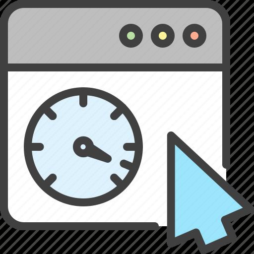 Arrow, cursor, seo, speed, speedometer, window icon - Download on Iconfinder
