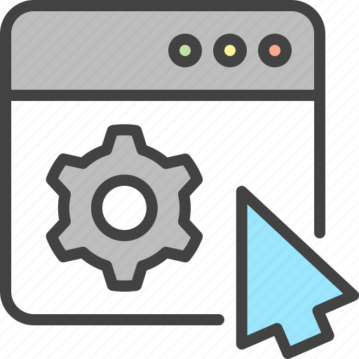 Cog, cursor, customize, gear, settings, tuning, window icon - Download on Iconfinder