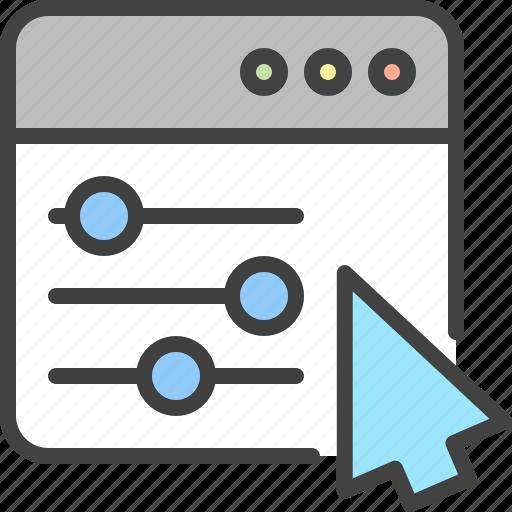 cursor, equalizer, settings, tuning, window icon
