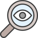 audit, check, glass, magnifying, search, verification, zoom icon