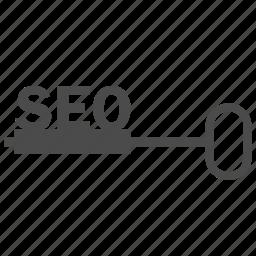 key, keyword engine, keywords, network, optimization, seo, web icon