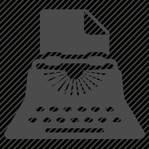 article, document, print, seo, text, typewriter, write icon
